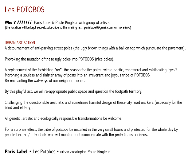 Les Potobos - English text