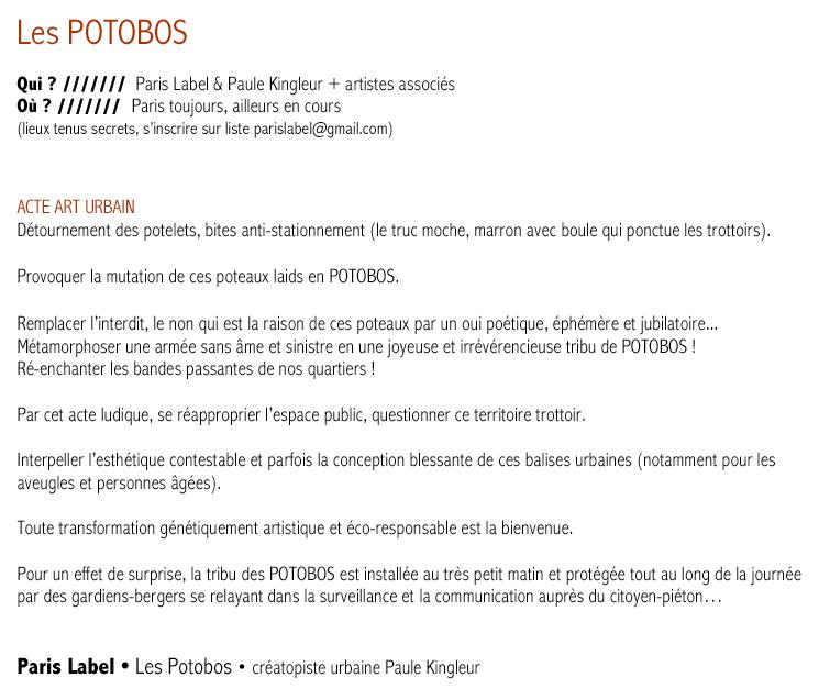 Les Potobos - Presentation en français