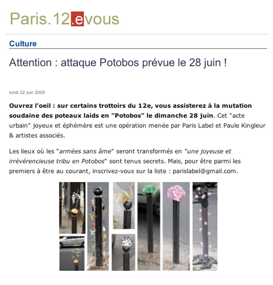 Presse Paris 12 evous