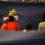répétition sur l'ile du parc de la mairie de clichy sous bois - paris label 2010 - escale d'eau - photo françoise gigleux