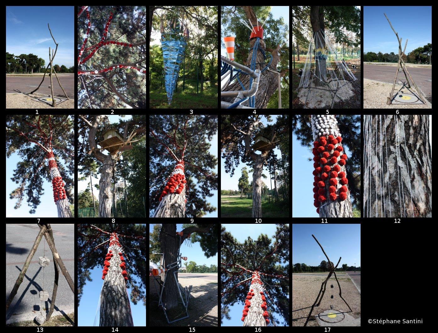 oeuvres land art dans les arbres à paris - événement biodiversité artistique organisée par Paris Label et Coop 2r2c - phot stéphane santini