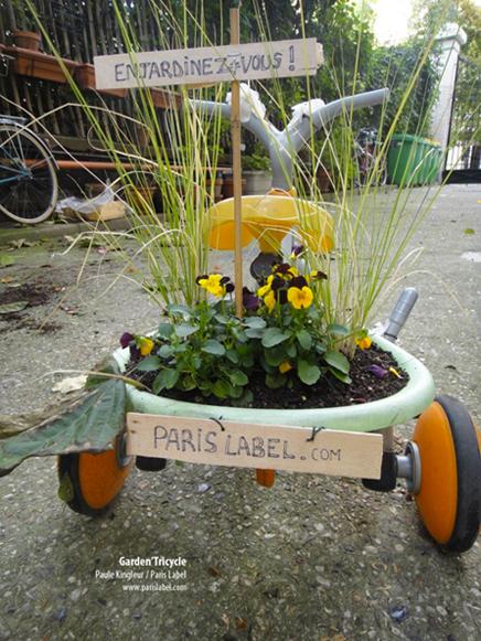 garden-tricycle créé par Paule Kingleur : enjardinez-vous !