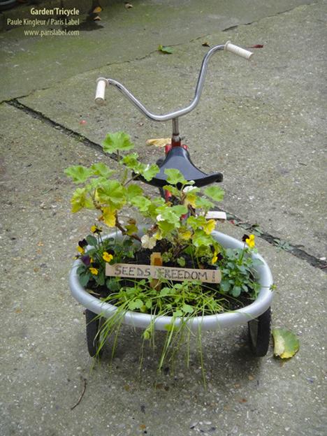 garden tricycle : libérez les graines ! Paule Kingleur pour Paris Label