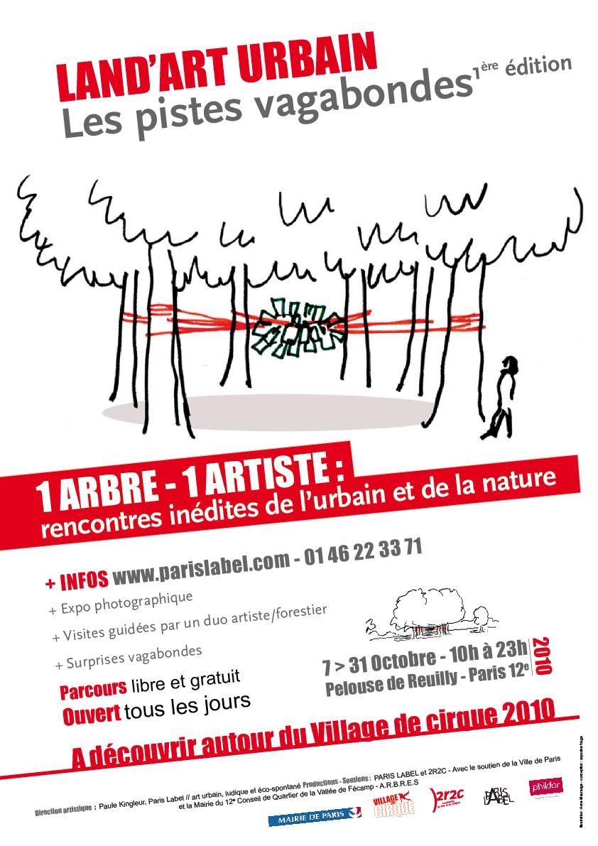 land 'art urbain au bois de vincennes - affiche capucine fouga / Paris Label - paule Kingleur et coop 2r2c
