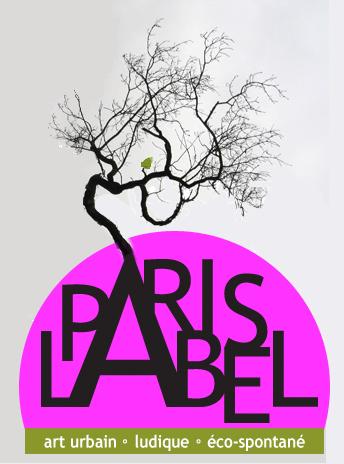 logo paris label - art urbain, ludique et éco-spontané / graphisme samuel lemercier/paule kingleur