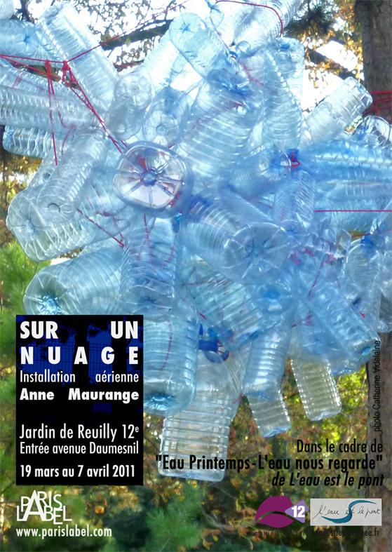 """Sur un nuage d'Anne Maurange - Installation au jardin de reuilly pour la journée mondiale de l'eau """"Eau Printemps""""- Paris Label"""