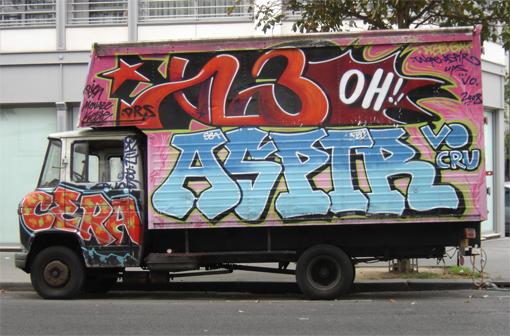 graffiti camion aspir