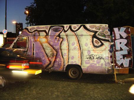 graffiti camion krew