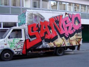 graffiti camion rue crozatier