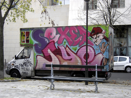graffiti sexer jye sur camion