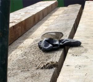 gant acrobate sur chantier tram - niveau rue de lagny 12e