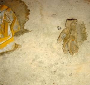 gant beige enseveli - porte de vincennes- chantier tram