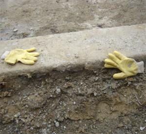 gants en séparation - chantier tramway porte de montreuil - paris 20e