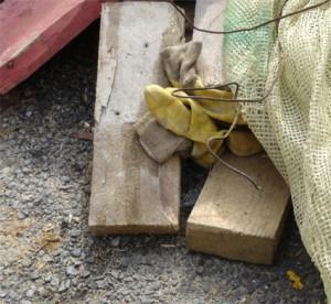 gants pudiques : chantier tram porte de vincennes