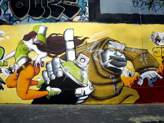 graff à paris : hautencouleurs rue des pyrénnées centre bus lagny 20e, © paule kingleur