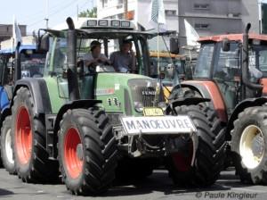 tracteur de jeunes agriculteurs, photo paule kingleur