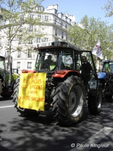 sarko urgent, manif agriculteurs à paris, photo paule kingleur