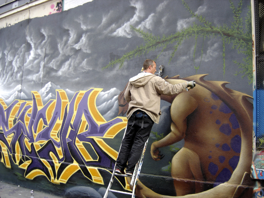 seyb graff entrepot lagny 20e, photo paule kingleur, parislabel.com