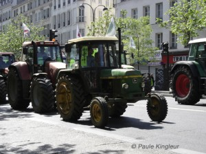 tracteur antique, photo paule kingleur