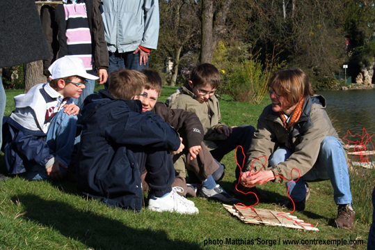 anne maurange et les garçons de l'ecoradeau lapin - photo matthias sorge - paris label 2010