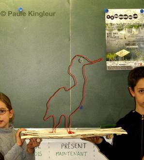 ecoradeau le héron cendré © paule kingleur, biodiversité 2010 paris label