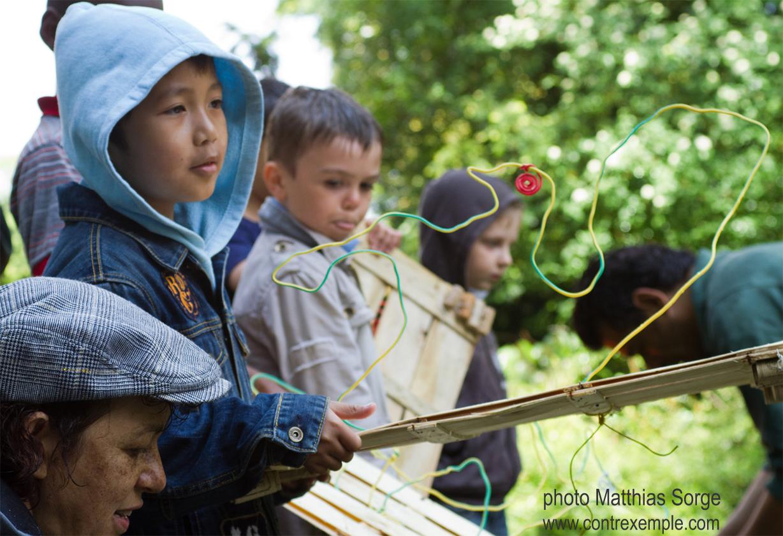 expo Regards sur la biodiversité, parc de bagatelle paris : mise à l'eau des ecoradeaux mai 2010, journée de la biodiversité paris label