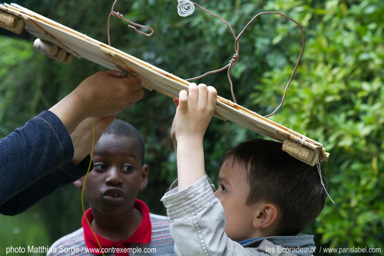 les ecoradeaux au parc de bagatelle, Paris Label et paule kingleur invités par la ville de paris pour l'expo pédagogique et artistique journées de la biodiversité à paris