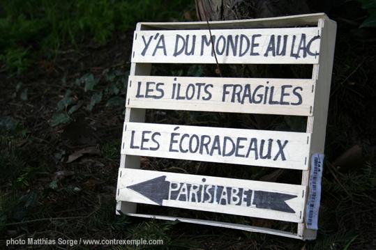 """evenement """"y a du monde au lac"""" - ecoradeaux - land art urbain et biodiversité pédagogique à paris / paris label"""