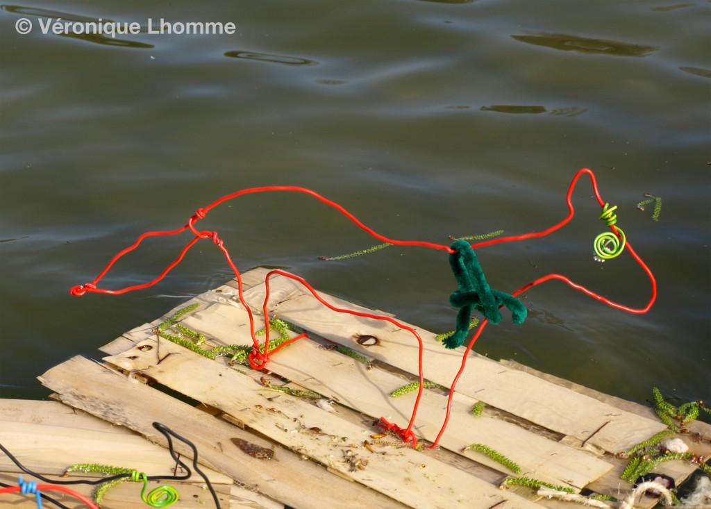 le renard qui a froid - ecoradeau - photo véronique Lhomme - opération biodiversité paris label 2010
