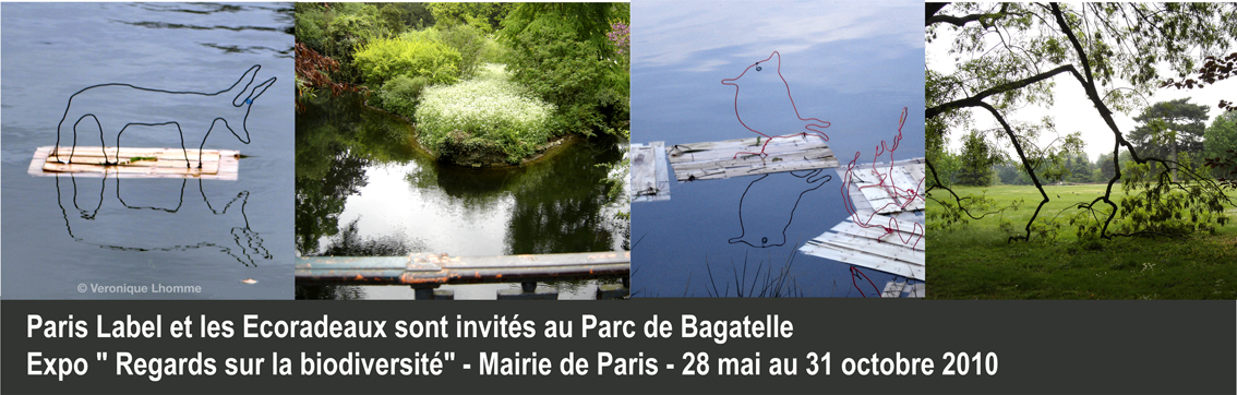 "les ecoradeaux au parc de bagatelle : expo ""regards sur la biodiversité"" de la mairie de paris / photo paule kingleur / paris label 2010"