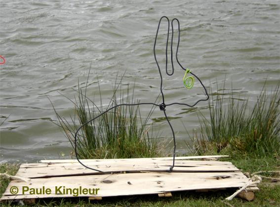 môssieur lapin sur la berge - ecoradeau kingleur, paris label biodiversité 2010