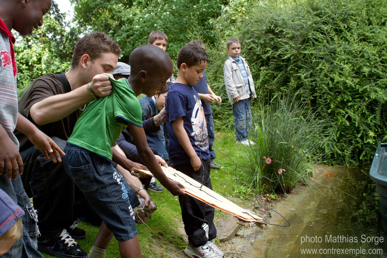 ecoradeau chauve souris au parc de bagatelle, paris label est invité à l'expo Regards sur la biodiversité de mai à octobre 2010, photos de matthias sorge