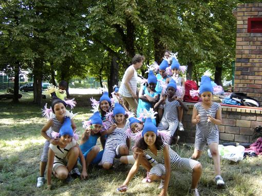 les enfants du centre social de la dhuys de clichy sous bois pour l'événement Escale d'eau intitié par le Conseil Général de seine saint denis, l'eau est le pont et Paris label, photo paule kingleur