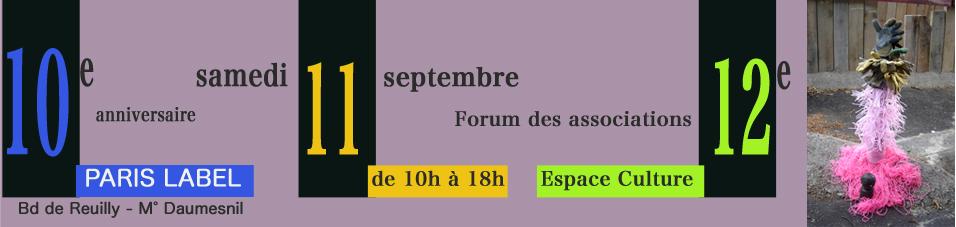 Paris Label au Forum des associations du 12e pour les 10 ans / quand j'avais 10 ans... (sur une idée de paule kingleur)