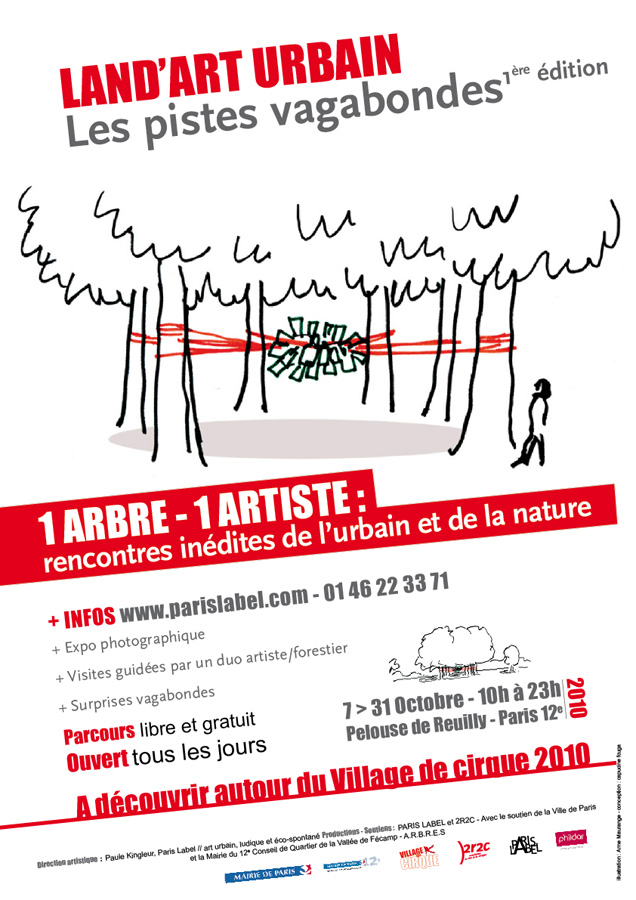 land art urbain à paris : direction artistique paris label - paule kingleur - complicité coop 2r2c