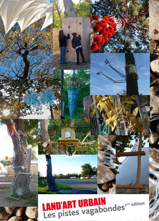 oeuvres land art urbain dans les arbres du bois de vincennes, organisé par Paris Label, direction artistique Paule Kingleur