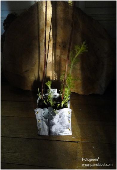 Potogreen noir et blanc - Edition limitée - Création Paule Kingleur pour Paris Label - Fabrication Emmaüs la Friperie solidaire