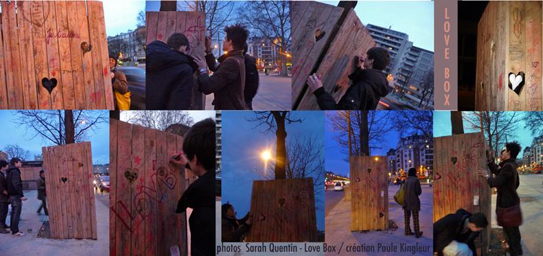 LOVE BOX ou LOV'BOXau cours de vincennes devant le lycée hélène boucher - Paule Kingleur / Paris Label