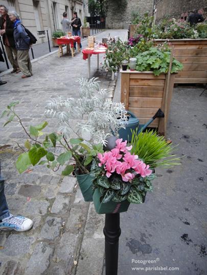 Potogreen d'automne pour inauguration Jardin partagé hors sol à Paris 20e dans l'impasse de l'Elysée Ménilmontant, photo Paule Kingleur