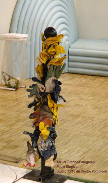 Potobo / Potogants sur une idée de Paule Kingleur pour l'Expo Green Attitude au Centre Pompidou