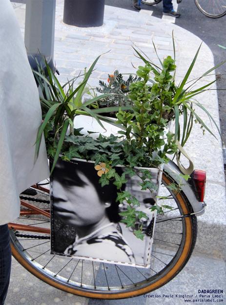 DADAGREEN en vélo dans Paris