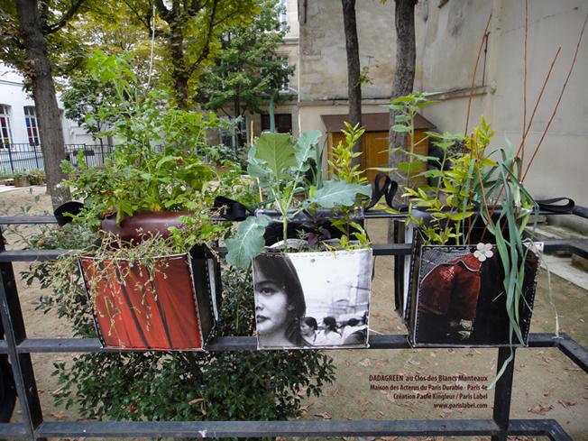 Dadagreen au Jardin Clos des Blancs Manteaux - Paris 4e - Création Paule Kingleur pour Paris Label