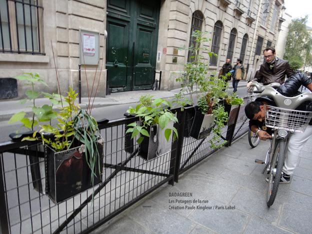 Inauguration de Dadagreen, potagers de la rue, imaginés par Paule Kingleur pour Paris Label