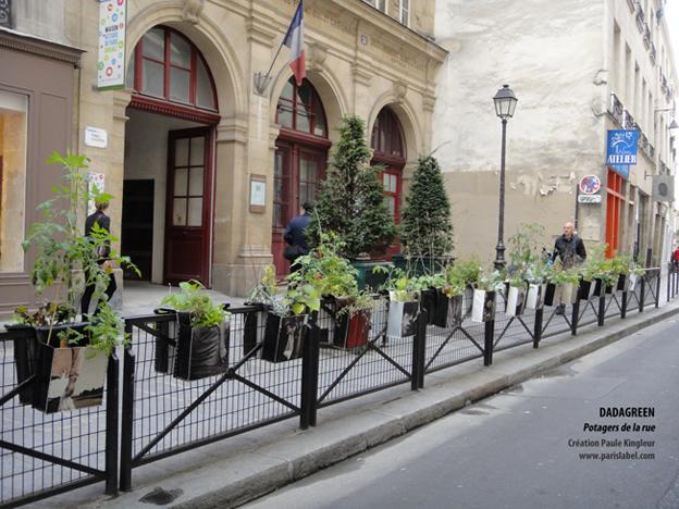 Dadagreen, jardins potagers suspendus, création Paule Kingleur / Paris Label