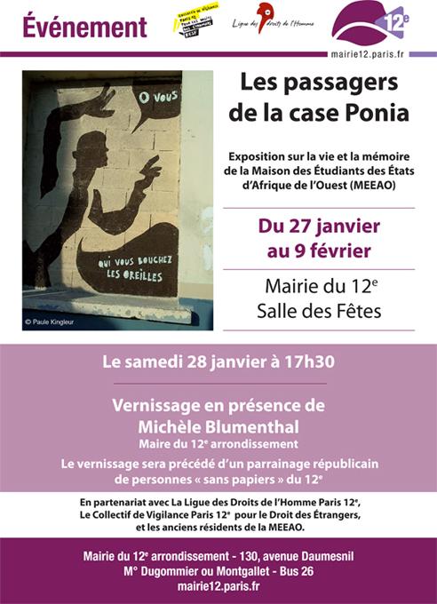 """expo MEEAO à la mairie du 12e """"les passagers de la case ponia"""" - Paris Label"""