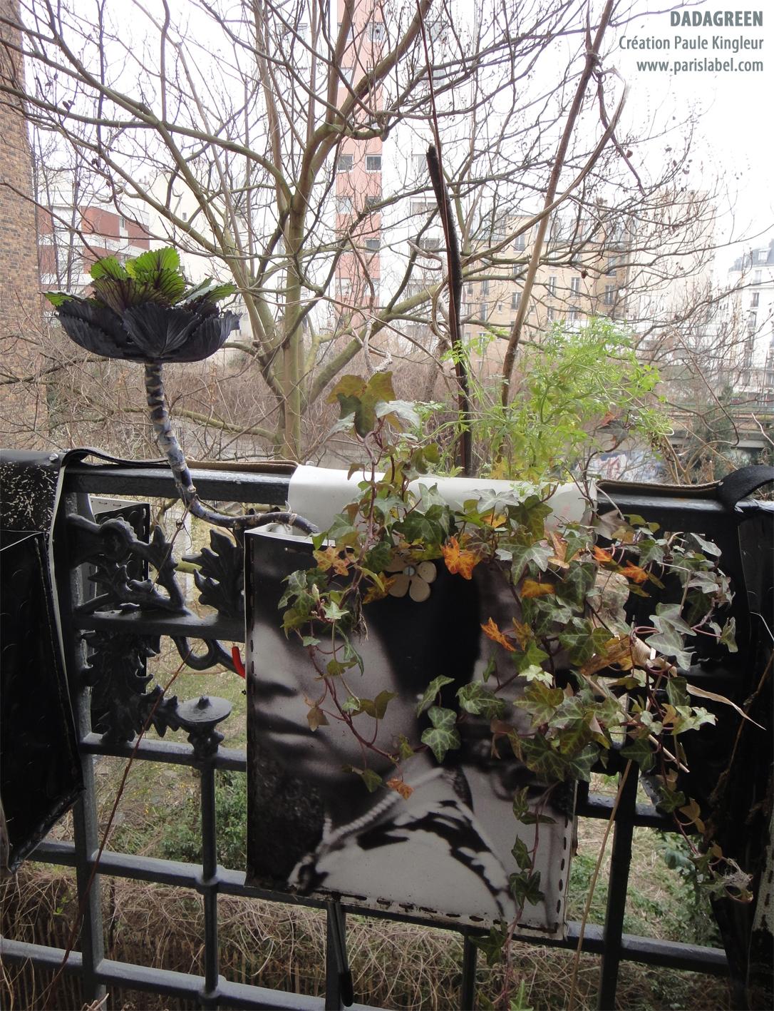 Création Paule Kingleur pour Paris Label : Dadagreen en pleine forme à la fin de l'hiver, mars 2013