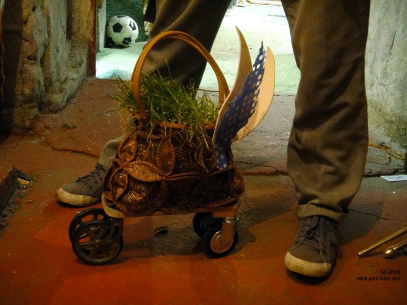 Sacadam réalisé par Emeline lors d'un atelier mené par Paule Kingleur à la Ressourcerie de la Petite Rockette à Paris 11e