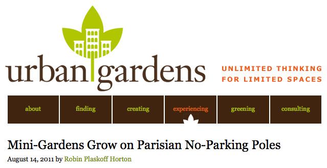 Presse Potogreen dans Urban Gardens