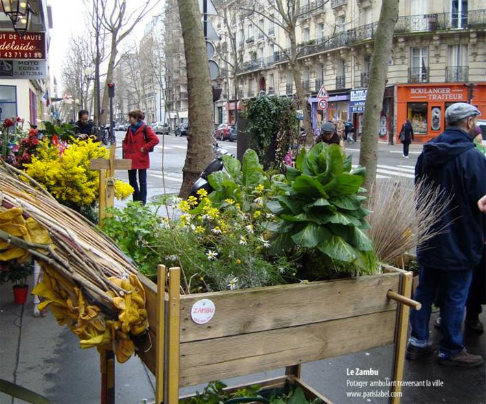 Transhumance Zambu dans le 12e et 11e à Paris - Création Paule Kingleur
