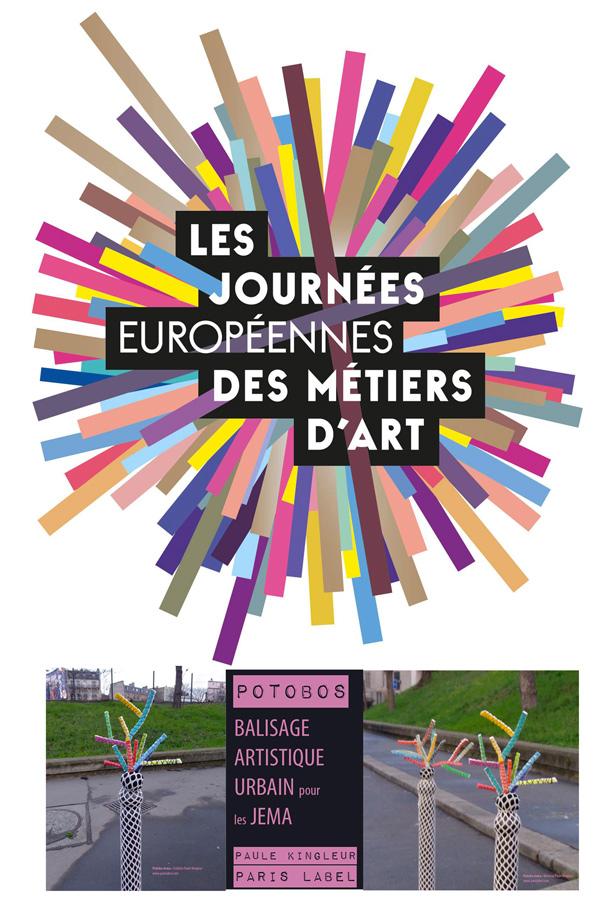 Balisage de Potobos de Paris Label pour les Journées Européennes des Métiers d'Art à Paris